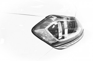 A picture of a car headlight